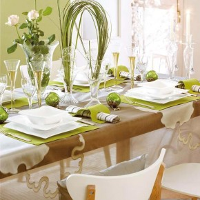 Christmas Table Decor Green 18 Christmas Dinner Table Decoration Ideas Photo 16