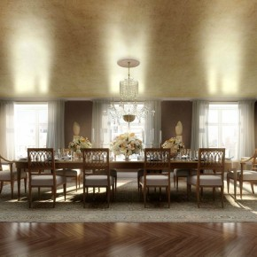 Classic Luxury Dining Room  Architectural Renderings By Dbox  Wallpaper 10