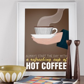 Coffee Poster  Retro Poster Prints  Wallpaper 8