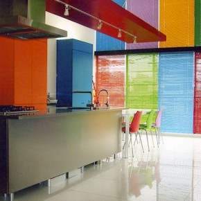 Colorful Rainbow Kitcen  Modern Japanese Kitchens Photo  25