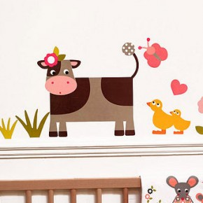 Cow Farmyard Wall Stickers  Kids Wall Stickers  Picture  11
