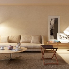 Cream Living Room 665x443  Rendered Minimalist Spaces by Rafael Reis Photo  10