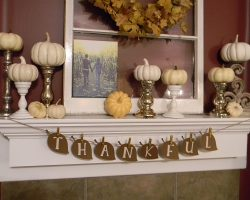 20 Pumpkin Fireplace Mantel Decoration Ideas