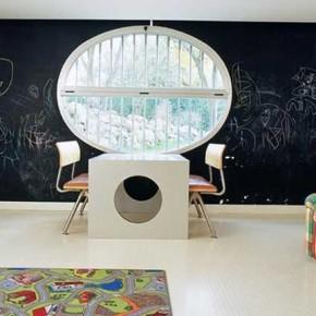 Kids room black chalkboard