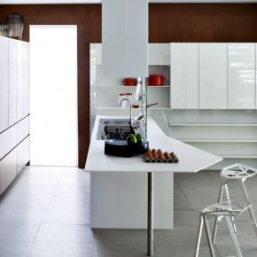 Dark Wood Kitchen Different Angle  Modern Kitchens From Elmar Cucine  Image  4