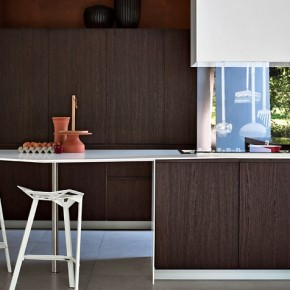 Dark Wood Wit The Seventies Feel  Modern Kitchens From Elmar Cucine  Image  3