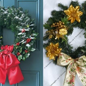 Door Christmas Wreath 34 Great Christmas Wreath Decorating Ideas Picture 15