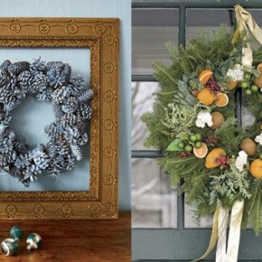 Door Christmas Wreath Idea 34 Great Christmas Wreath Decorating Ideas Pict 14