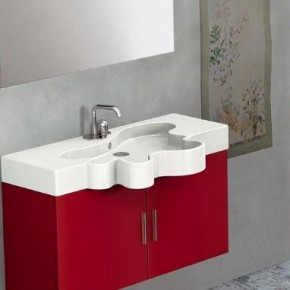 Duebi Italia Red Flower Vanity  Interesting Flower Vanity from Duebi Italia