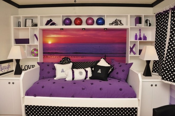 Teen girls sports purple bedroom theme wefollowpics.com