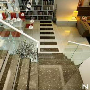 Glass Marble Staircase  Dream Home Interiors by Open Design  Picture  29