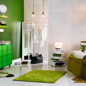 Green Bedroom  Splashes of colour in white interiors  Wallpaper 4