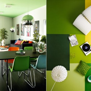 Green Interior Spaces  Splashes of colour in white interiors  Picture  3
