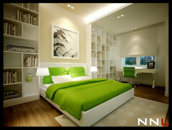 Green White Bedroom 665 503 Dream Home Interiors By Open Design Pict 28 Interior Design Center
