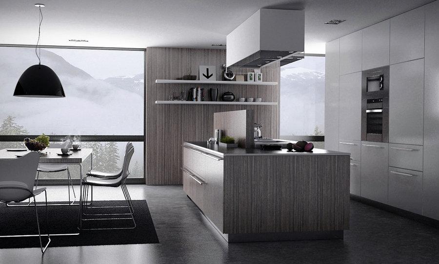 Grey kitchen moody melancholic interiors wallpaper 11 for Grey kitchen wallpaper