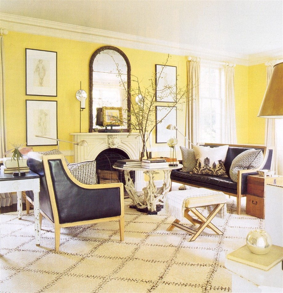 Grey Sofa Yellow Walls Cool Decorate Yellow And Gray Modern Decor
