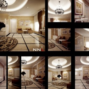 Hallway Reception 665x558  Dream Home Interiors by Open Design  Picture  27