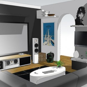 Home Entertainment System Sketch Up  A Massive Home Entertainment Setup  Image  1