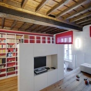 House T 140212 03  Small Apartment / Hidden Bed Design by POINT Architecture