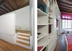 House T 140212 06  Small Apartment / Hidden Bed Design by POINT Architecture