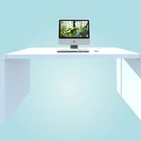 IMac Idesk 582x362  11 Modern Minimalist Computer Desks  Pict  15