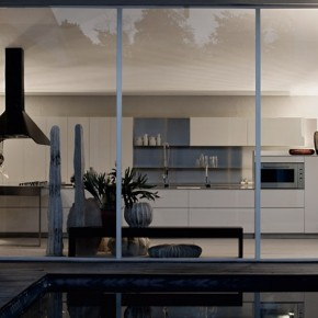 Large Warmer Kitchen At Night  Modern Kitchens From Elmar Cucine  Pict  8