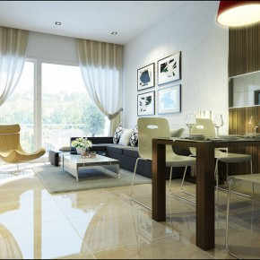 Living Room And Dining Room Space1  Warm and Cozy Rooms Rendered By Yim Lee  Image  3