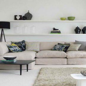 inspiring living room floating shelves | 20 Ideas for Floating Shelves | Interior Design Center ...