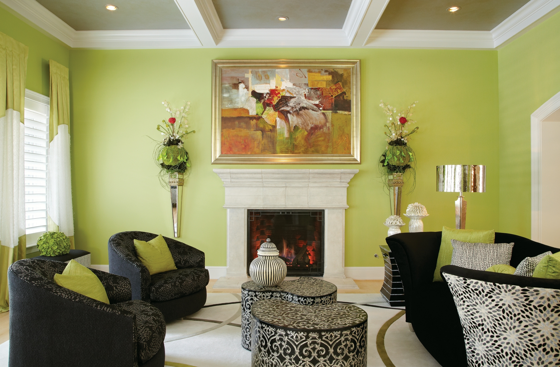 Lovely Ideas Lime Green Living Room Ideas Home Decor Lime Green Wall Living Room Black Fabric Sofa Grey Interior Design Center Inspiration