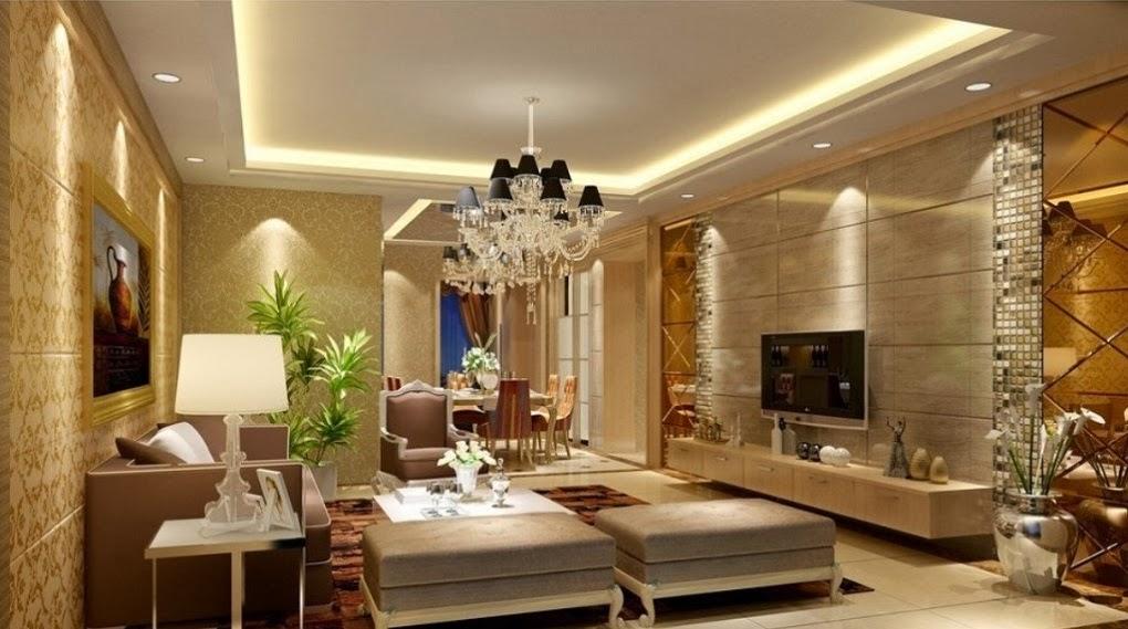 Luxury Living Room Interior With Pop Ceiling And Sofa Sets Decorating Ideas Interior Design Center Inspiration