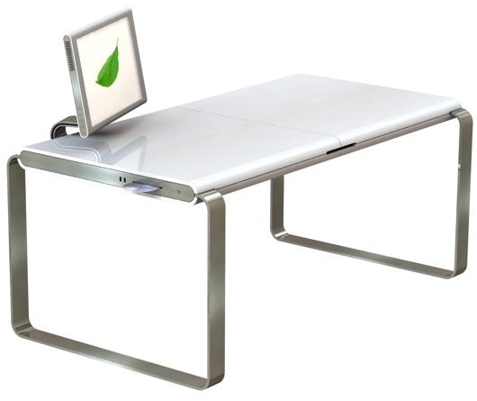 Mac PC Hybrid Desk  11 Modern Minimalist Computer Desks  Image  19