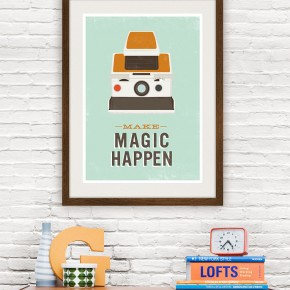Magic Happens  Retro Poster Prints  Wallpaper 13