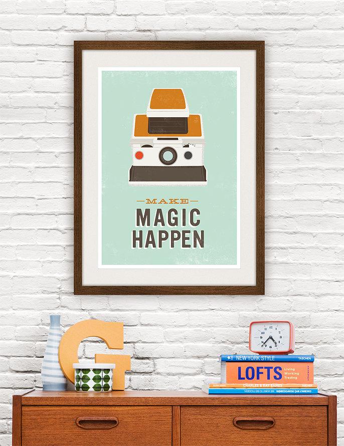 Magic Happens Retro Poster Prints Wallpaper 13 Interior