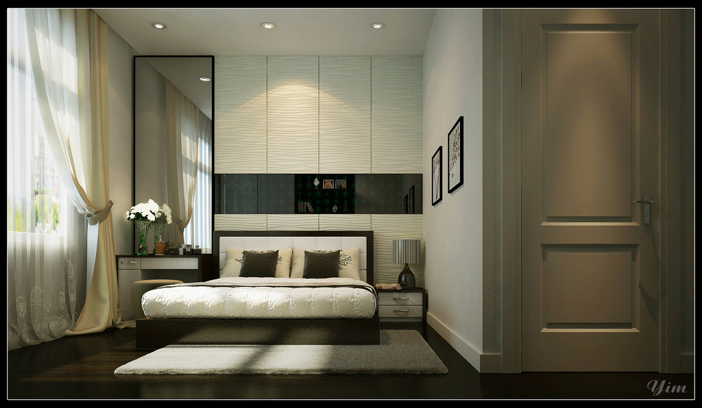 Master Bedroom With Ambiental Lighting1 Warm And Cozy Rooms Rendered