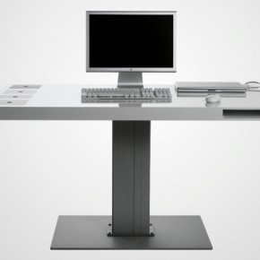 Milk Wireless Desk 582x434  11 Modern Minimalist Computer Desks  Pict  6