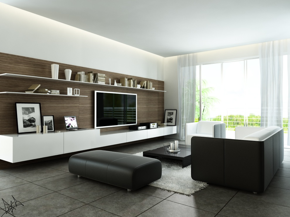 Modern style living living rooms round up pict 10 for Modern look living room