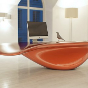 Modern Table Set 5  Surrealistic Furniture Unit Inspired by an Incessant Flow: Volna Table