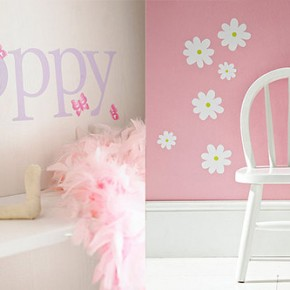 Name Butterfly Daisy Wall Stickers  Kids Wall Stickers  Wallpaper 9