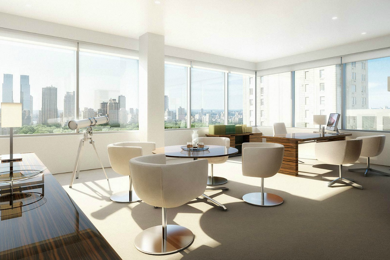 Home Spa Design Ideas: Office With View Architectural Renderings By Dbox Pict 17