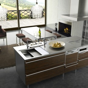 Open Kitchen Living  Modern Japanese Kitchens  Pict  13
