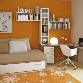 Orange And White Young Childs Workspace  Young Workspaces  Wallpaper 9