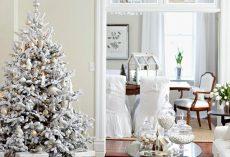20 White Christmas Living Room Ideas
