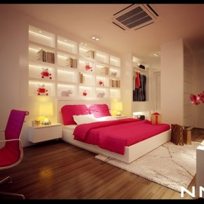 Pink White Bedroom 665x504  Dream Home Interiors by Open Design  Picture  18