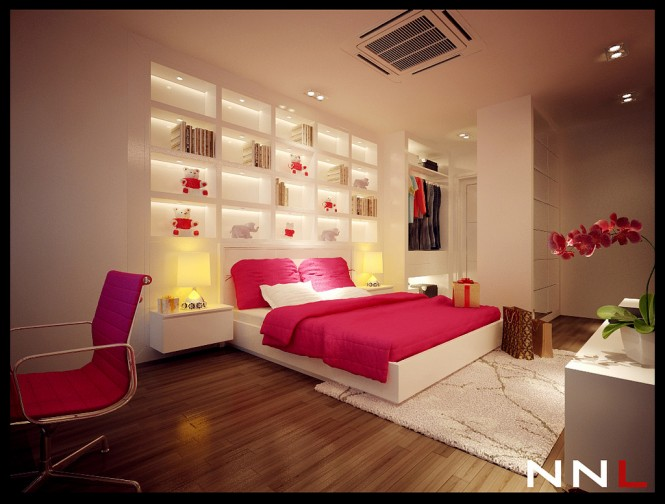 Pink White Bedroom 665 504 Dream Home Interiors By Open