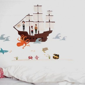Pirate Sea Creatures Wall Stickers  Kids Wall Stickers  Pict  10