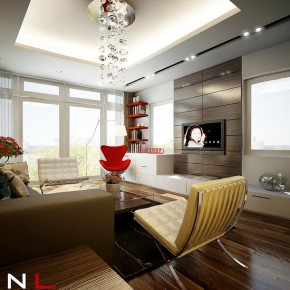 Red Brown Living Room  Dream Home Interiors by Open Design  Wallpaper 16