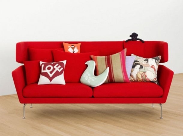Red Modern Sofa Cushions 665x493  Beautiful Modern Style Sofas  Image  7