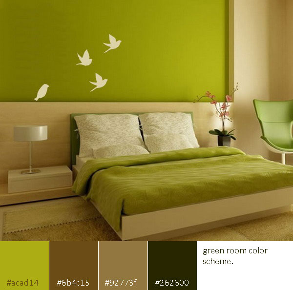 Room Color Scheme Green Interior Design Center Inspiration