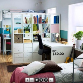 Serene White Room  Dorm Room Inspirations from IKEA  Wallpaper 1