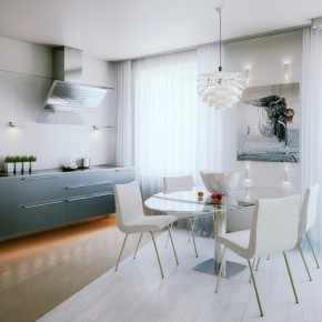 Small Space Dining  Small Apartment Design in St.Petersburgh  Image  2